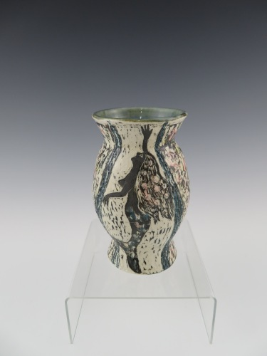 "Mermaid vase 3.75"" x 6.75"" $48"
