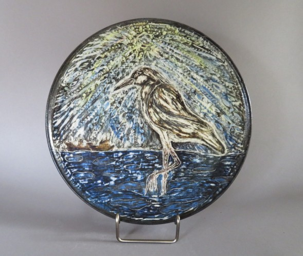 Shorebird plate 10.5""