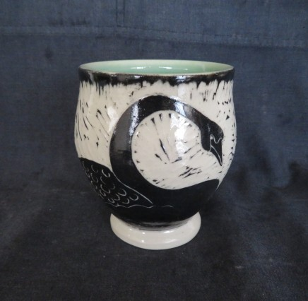 "Water fowl cup 4"" x 4.25"" $42"