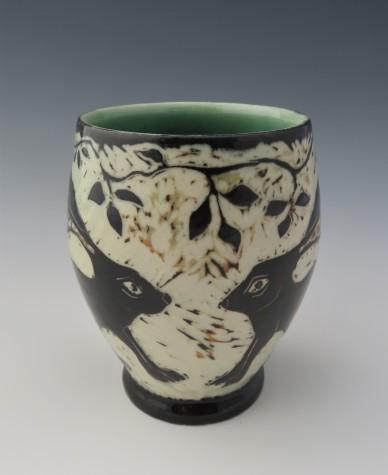 """Rabbits cup 3.75'x 4.5"""" $4542"""