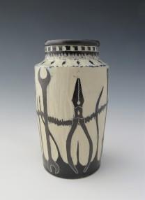 """Tools design vase 3 3 3/8"""" x 6.5"""" $85"""