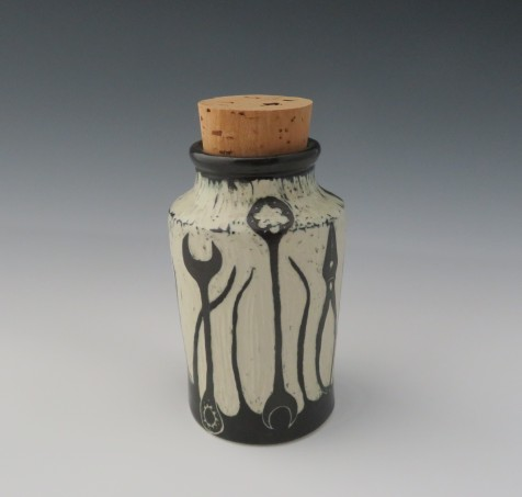 "Tools design container (or vase) 2.7/8"" x 6"" (with cork) $45"